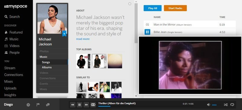 MySpace, red social de música