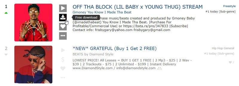 SoundClick canciones gratuitas y de pago