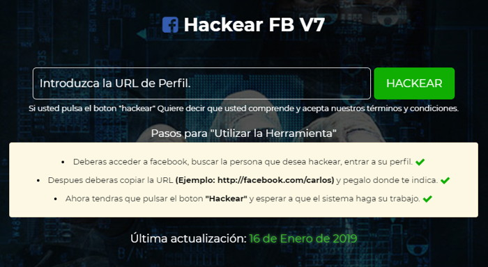 Hackear Facebook sin programas