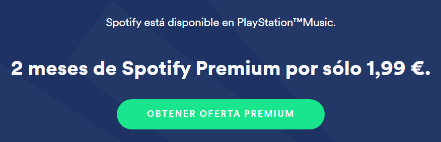 Promoción de Spotify Premium para PlayStation