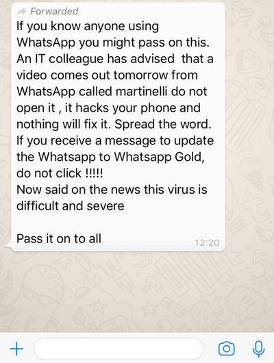 WhatsApp Video Martinelli