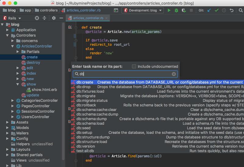 RubyMine IDE multiplataforma