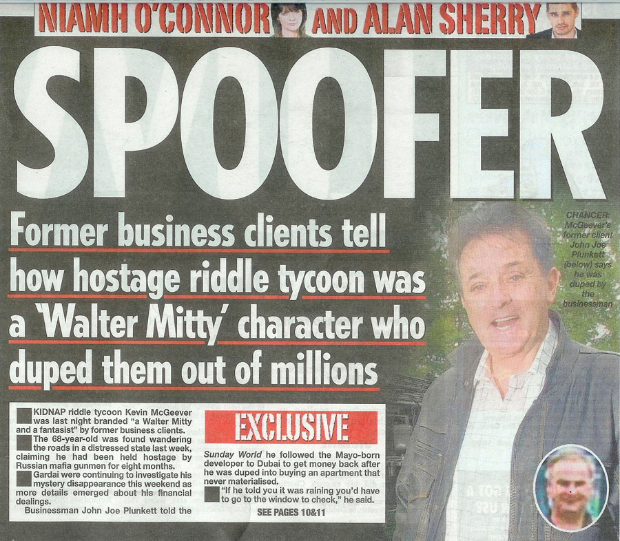 Image result for kevin mcgeever kidnapping newspaper article