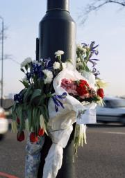 Flowers at Accident Scene