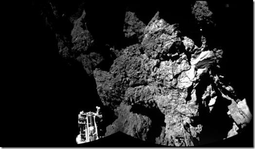 First image taken by Philae from comet surface