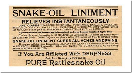 Snake Oil label