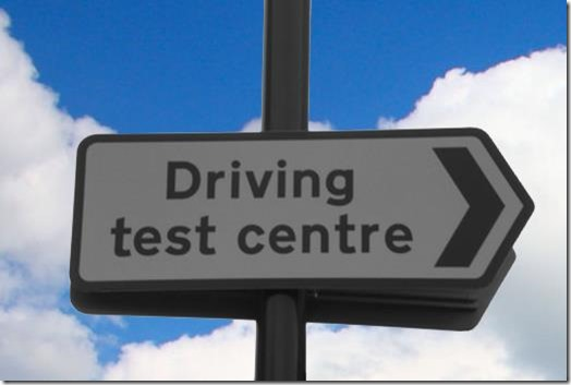 Test Centre Sign