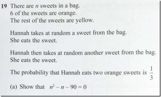 Maths exam question from 2015 which caught everyone out
