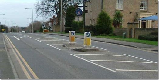 A typical pedestrian refuge