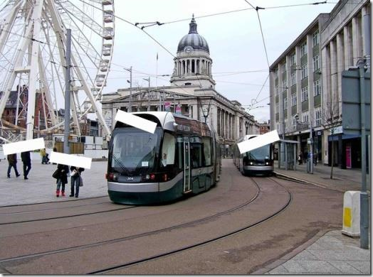A tram somewhere - anonymised, so it could be ANY tram in ANY city in the world