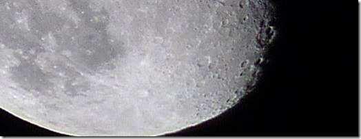 The bottom part of the moon