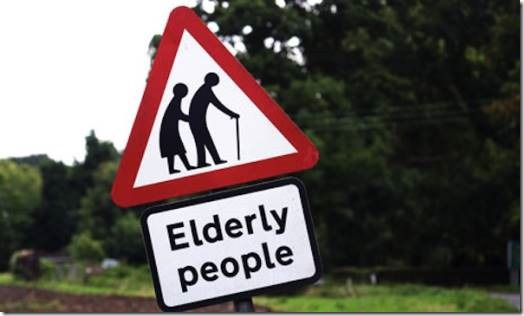 Elderly People road sign
