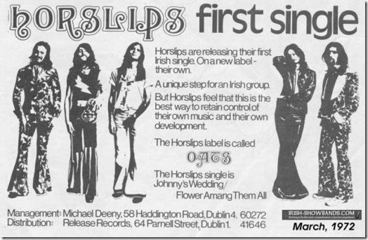 Horslips ad from 1970s
