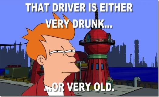 Fry observes bad driving