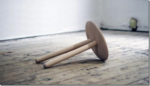 A two-legged stool