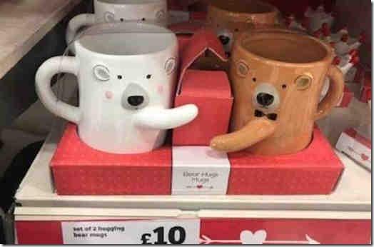 Sainsbury's Hugging Bear Mugs