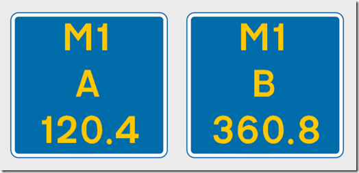 Driver Location Signs
