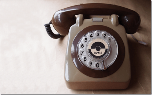 Old-style dial phone
