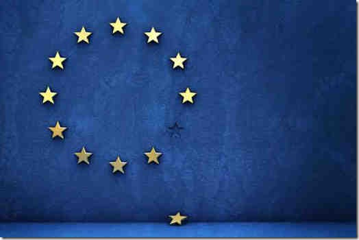 EU flag with fallen star