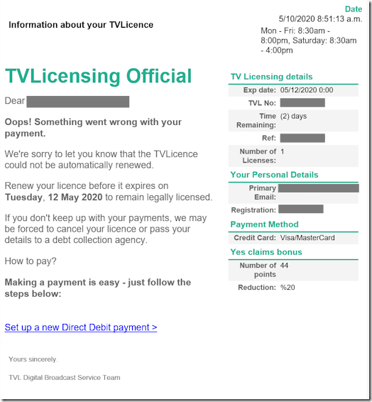 TV Licensing Scam