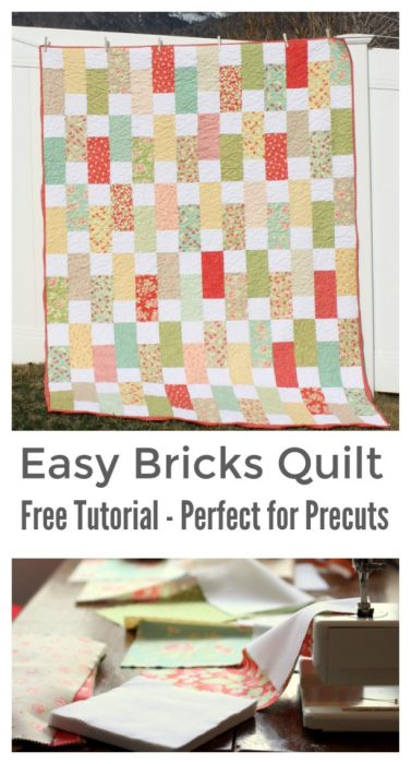 Easy precuts Bricks quilt tutorial - perfect for Layer Cakes