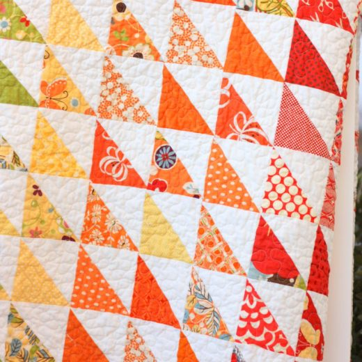 Half Square Triangle Spectrum Quilt by Amy Smart