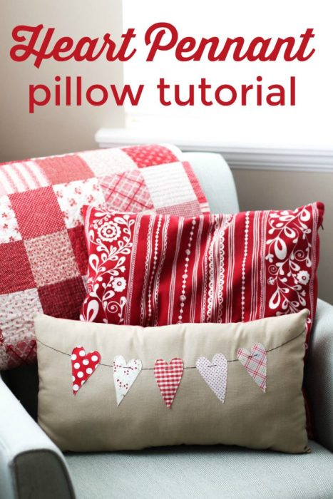 Valentines pennant pillow