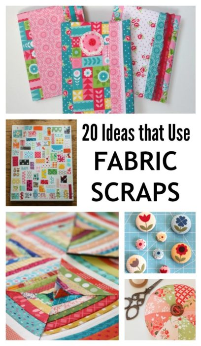 20 Ideas to use leftover fabric scraps