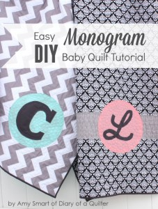 Easy DIY Monogram Baby Quilt Tutorial