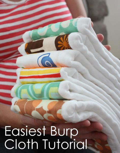 Easy Baby Burp Cloth Tutorial featured by top US sewing blog, Diary of a Quilter