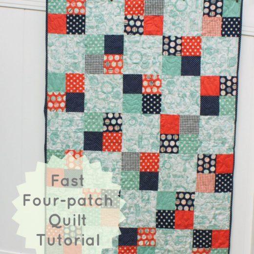 Fast Four-patch quilt