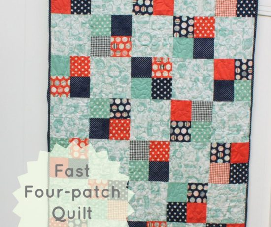 Fast Four-patch quilt