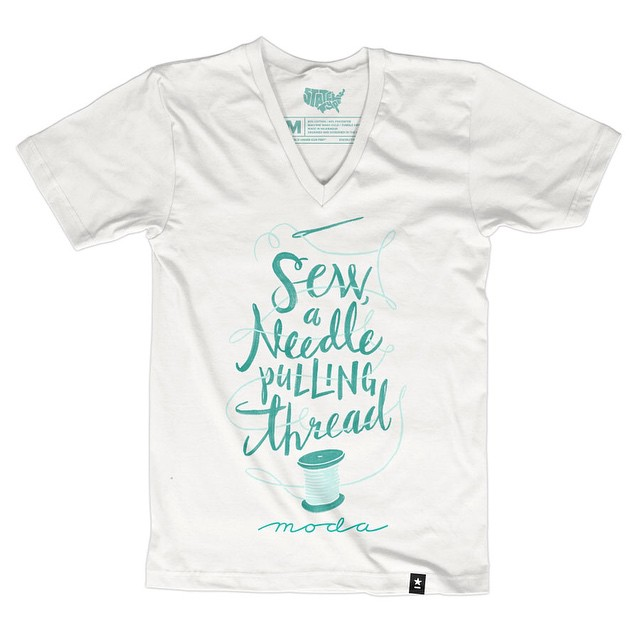 Stately Type Sewing T-shirt