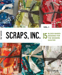 Pattern book with 15 scrap quilt patterns