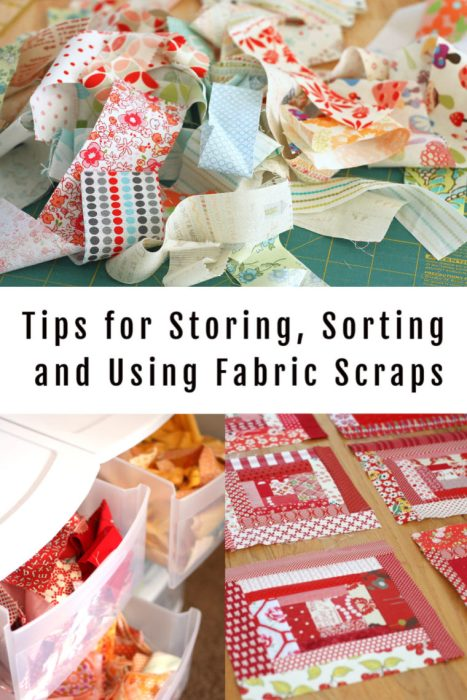 Tips for Storing, Sorting, and Using your leftover Fabric Scraps