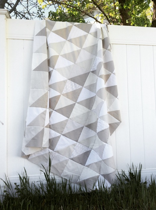 Gray and White neutral quilt