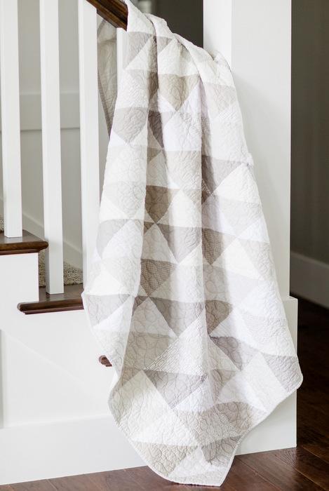 Modern neutrals quilt - gray and white