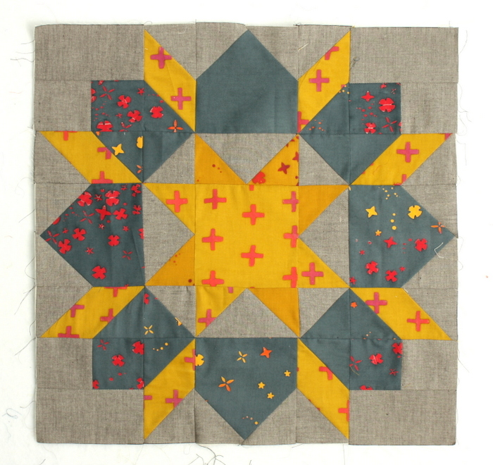 Alison Glass Handcrafted Carpenter's Wheel quilt block