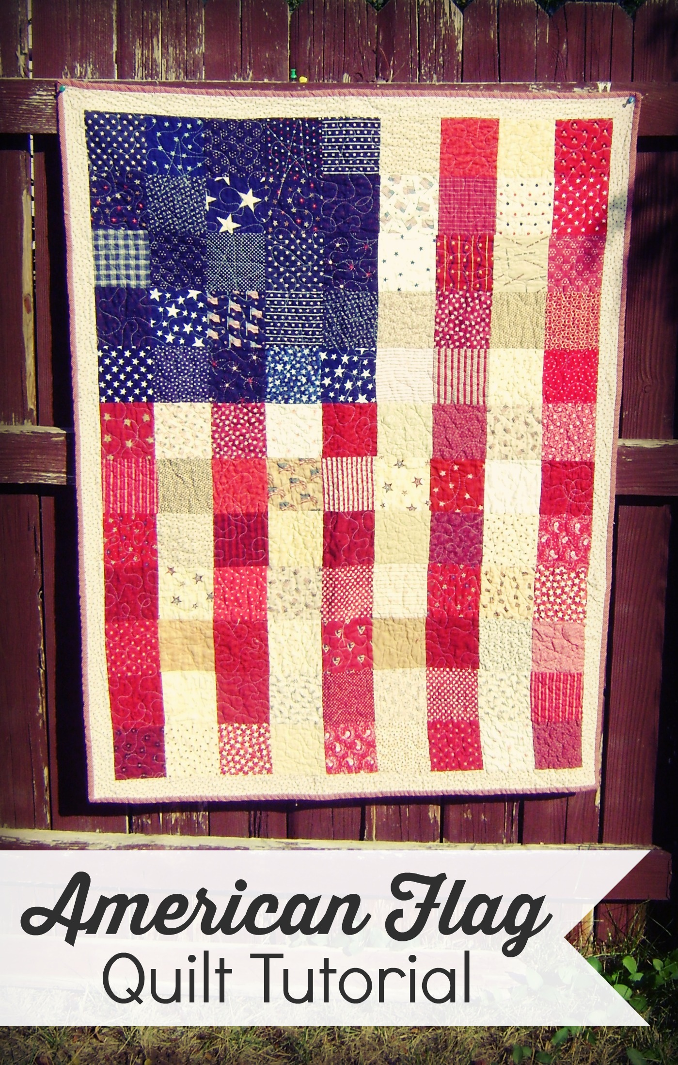 American Flag Quilt Tutorial Diary Of A Quilter A Quilt Blog