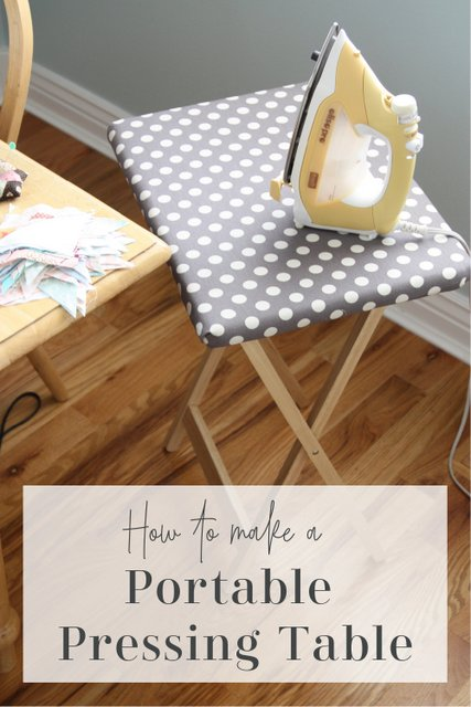 Tutorial- How to Make a portable pressing table - useful supply for every sewing roomm