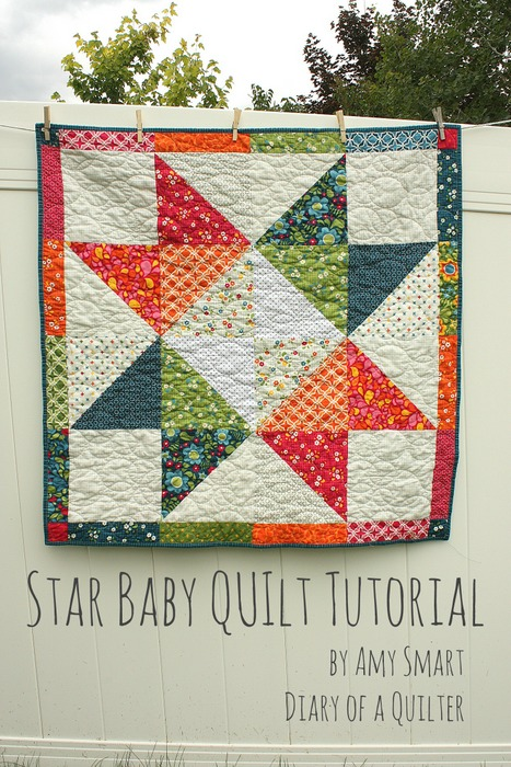 Layer Cake Star Baby Quilt Tutorial
