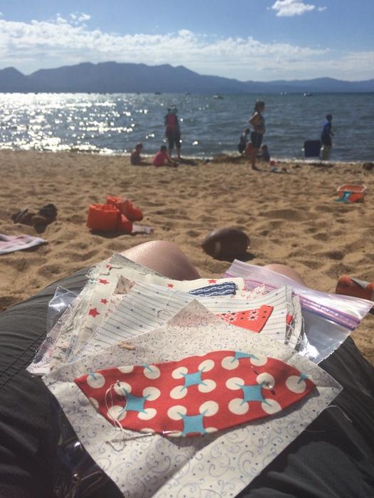 sewing at Lake Tahoe