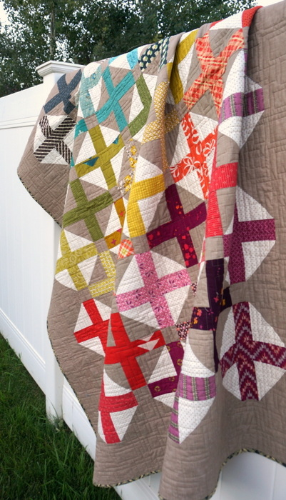 spectrum cross quilt