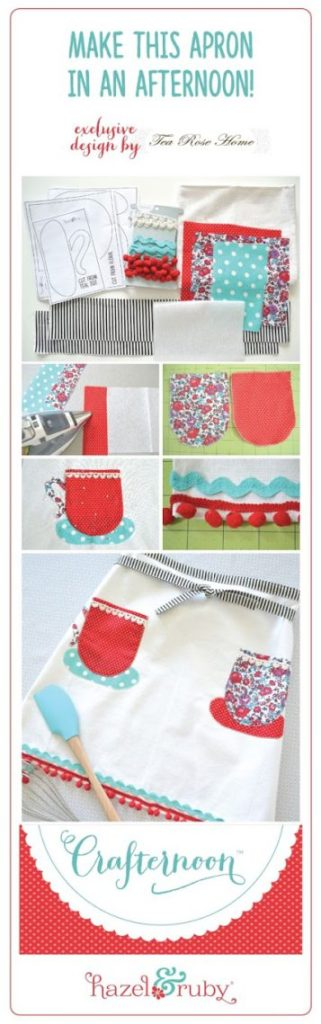 Crafternoon Tea Towel Apron