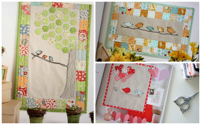 Sweet Tweets applique quilts