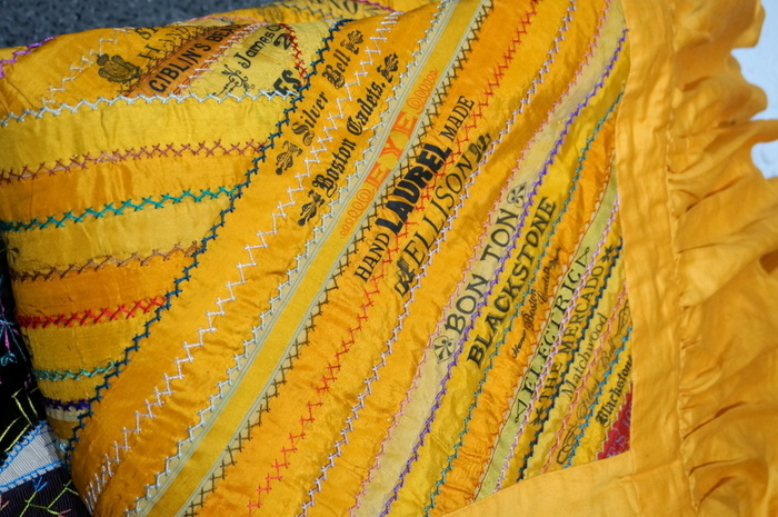 cigar ribbon crazy quilt