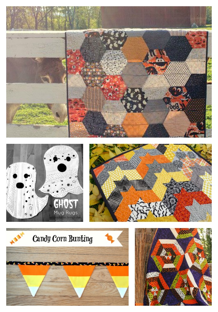 Halloween quilts collage
