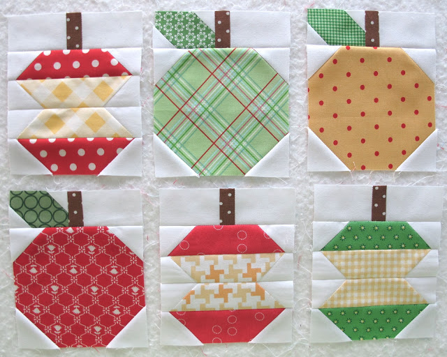 Lori Holt Apple blocks