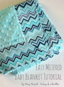 Easy Mitered Baby Blanket tutorial 1