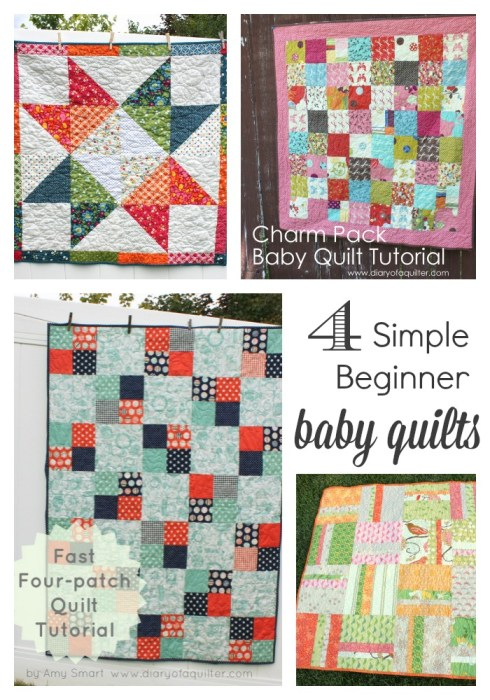 Four simple Baby Quilt Tutorials featured by top US quilting blog, Diary of a Quilter